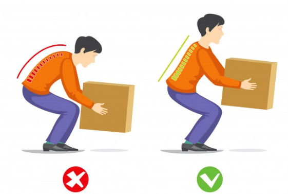 Lifting Heavy Objects Incorrectly